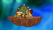 Bowser on the rock platform