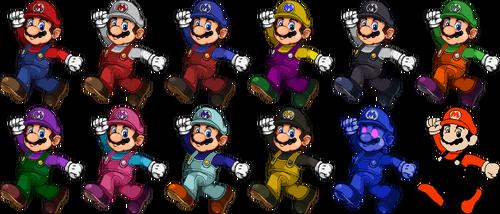 SSF2 Mario Costumes