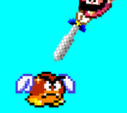 Flying Goomba in A Super Mario World