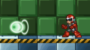 Proto Man uses Big Bang Blast