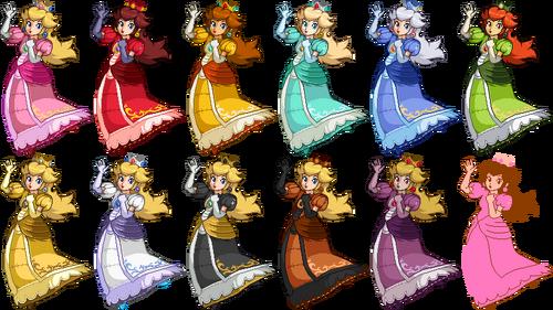 SSF2 Peach Costumes