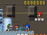 Sonic y Knuckles in A Super Mario World