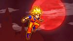 Floating - Super Saiyan Goku