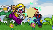Wario uses Shoulder Bash
