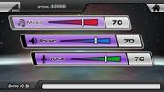 Sound menu