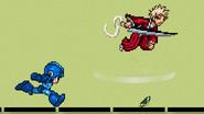 Ichigo throwing the Motion-sensor bomb downward
