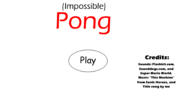 Impossible Pong - Title Screen