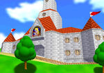 Peach's Castle in Super Mario 64 DS