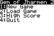 Gem of Jharmen 2 Main Menu