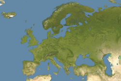 Europe satellite image location map