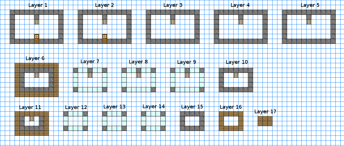 ObservatoryKeepBlueprints png. Image   ObservatoryKeepBlueprints png   Minecraft Constuctions