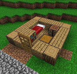 1 Cut A 5x5 Hole Into Flat Surface Log Cabin Floor