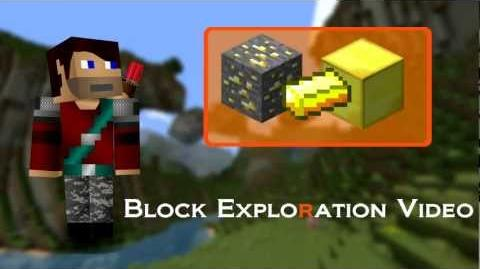 Minecraft Blocks and Items Gold