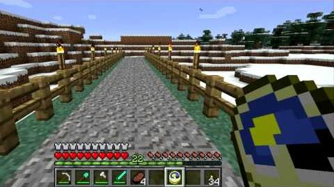 Minecraft Blocks and Items Clock