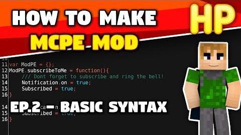 ✔MCPE modding E2 Basic Syntax