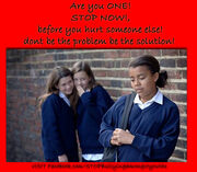 Stop Bullying Amongst Youths Poster