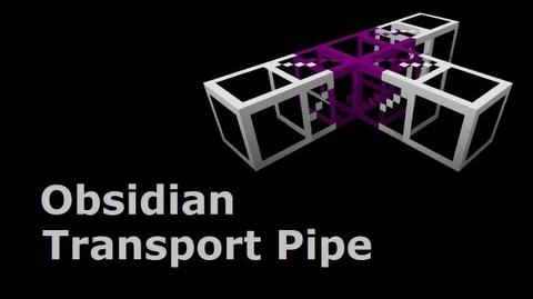 Obsidian Transport Pipe - Buildcraft In Less Than 90 Seconds