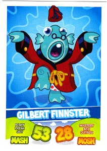 Gilbert Finnister Top Trump Card - Series 1