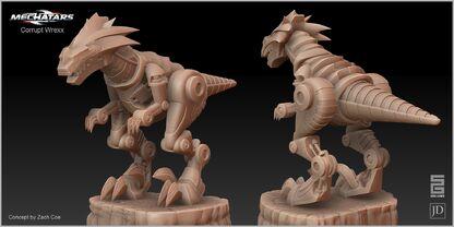 CorruptRaptorV2 sculpt demo1