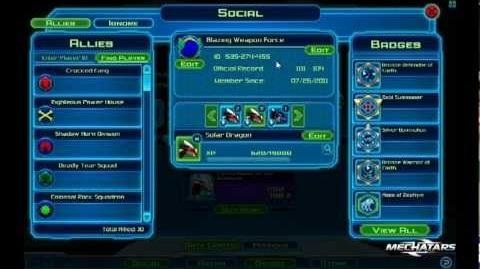 Mechatars Social Page Tutorial