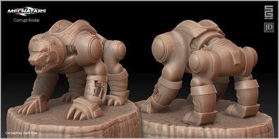 CorruptBearV2 sculpt demo1
