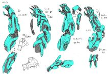 Mecha-ude concept art