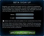 Beta Sign Up