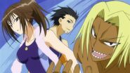 Tanegashima explaining the Swimming Club's philosophy