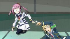 Onigase and Zenkichi handcuffed together