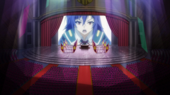 Medaka addressing the student body