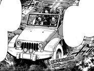 Ajimu drives her jeep