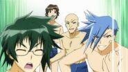 Hyuga and Moji at the swim meet