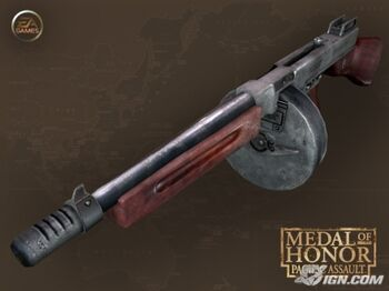Thompson submachine gun   Medal of Honor Wiki   FANDOM