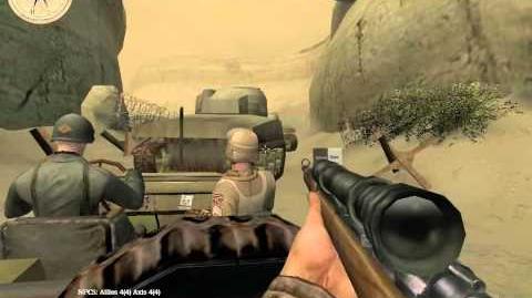 Medal of Honor Allied Assault Breakthrough - Kasserine Pass Part II (Part 2) Walkthrough