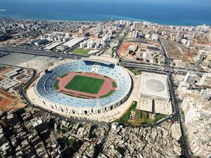 Aerial view of Camille Chamoun Sports City Stadium and Indoor Olympic Stadium.jpg