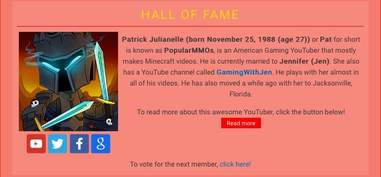 Youtubewikihalloffamepopularmmos