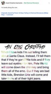 Emo boy let's have emo christmas