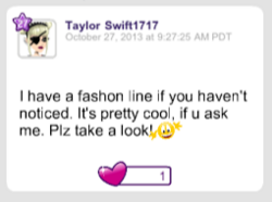 TayTay has a fashion line in 2013