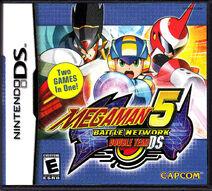 Nintendo DS Mega Man Battle Network 5 Double Team Front Cover