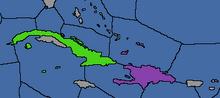 Karaiby mapa