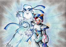 X and Dr Light HADOUKEN by Akira Hikari Destacado Wikia