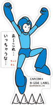 CAPCOM × B-SIDE LABEL Sticker Rockman Jump
