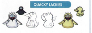 Concept art of Quacky Lackies