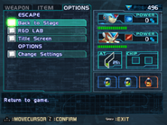 MMX8 Options Screen