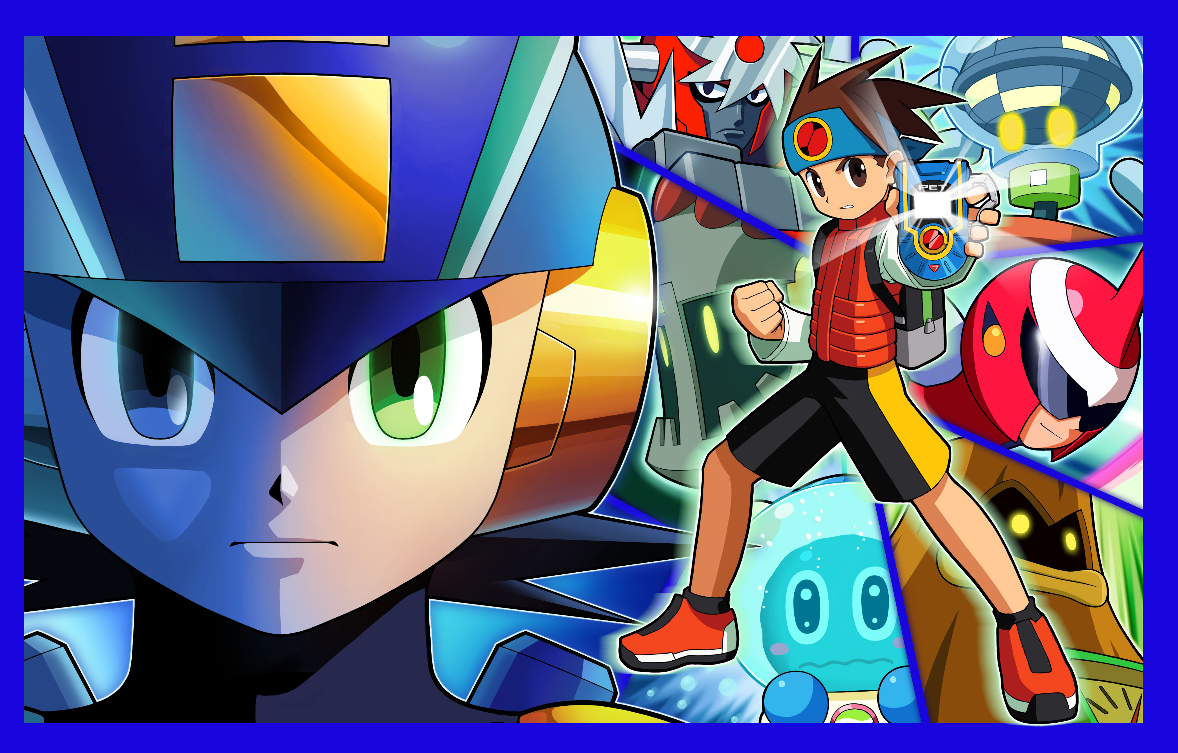 mega man battle network 4 red sun and blue moon