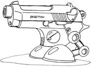 MM3 unused enemy (Berettan)
