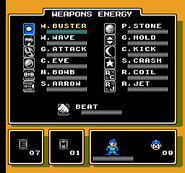 MM5 Weapon Select Screen