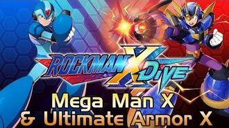 Mega Man X DiVE Beta - Mega Man X & Ultimate Armor X Showcase Gameplay, Skills & 3D Model