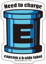 CAPCOM × B-SIDE LABEL Sticker Rockman E Can