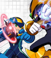 MegaMan.exe VS Bass Cross